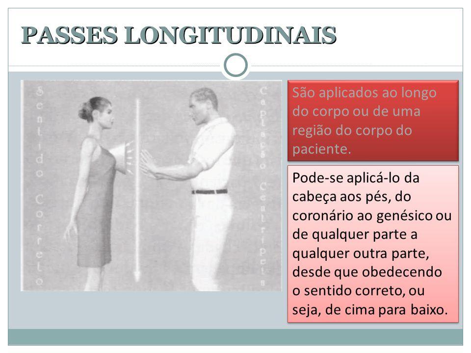 PASSES LONGITUDINAIS São aplicados ao longo do corpo ou de uma região do corpo do paciente.