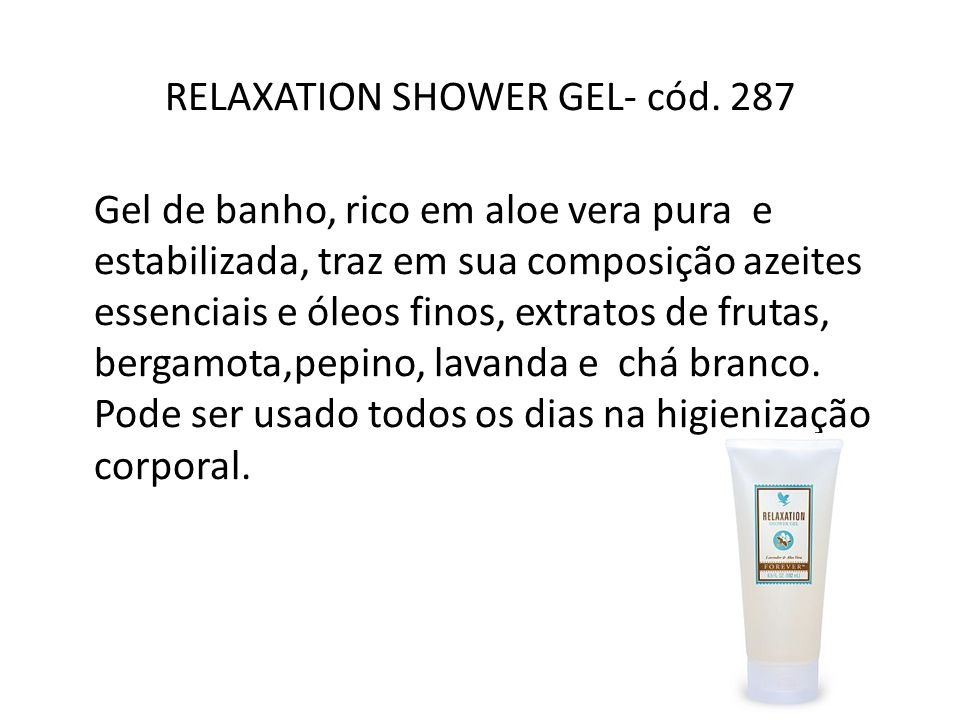 RELAXATION SHOWER GEL- cód