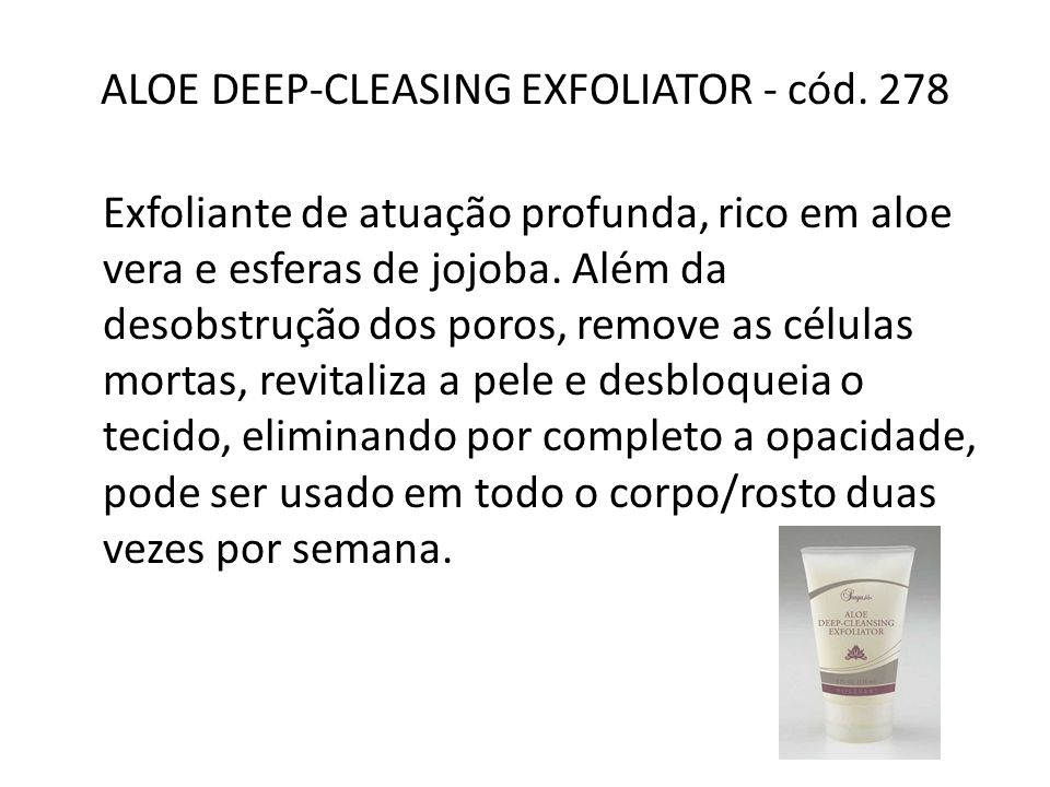 ALOE DEEP-CLEASING EXFOLIATOR - cód. 278