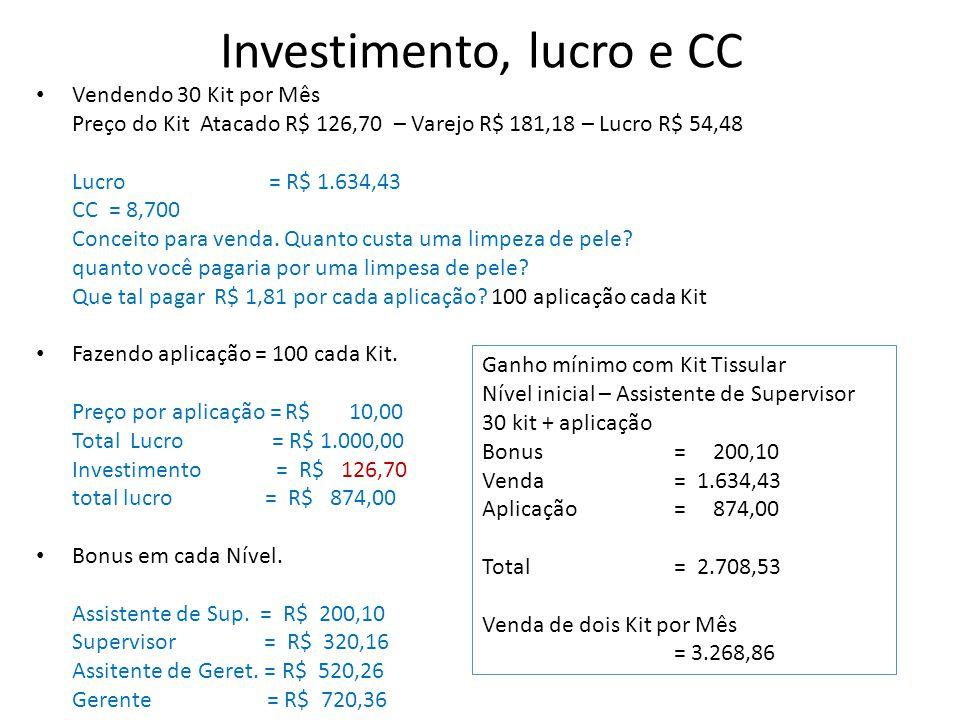 Investimento, lucro e CC