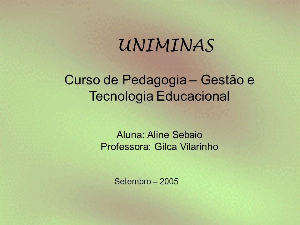 UNIMINAS Curso de Pedagogia – Gestão e Tecnologia Educacional