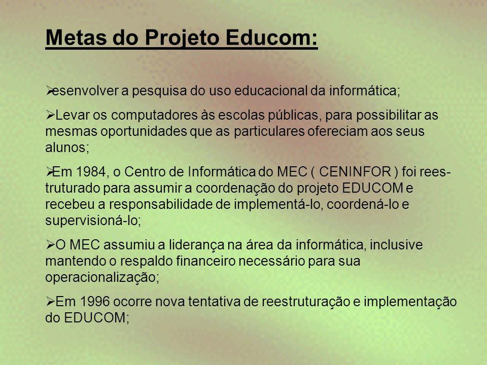 Metas do Projeto Educom: