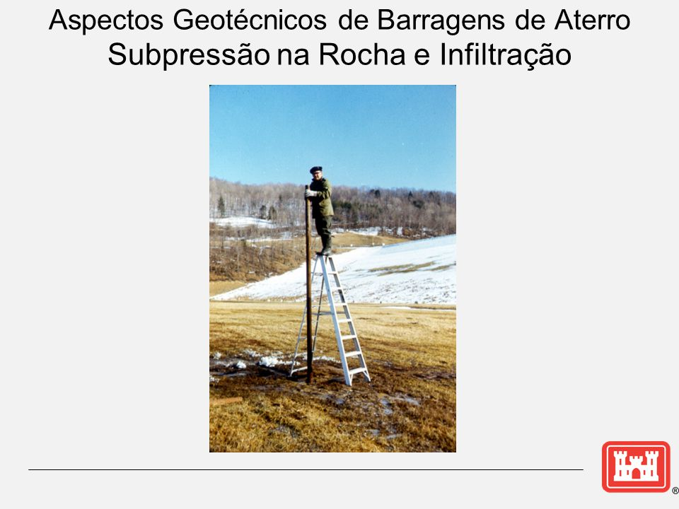 Aspectos Geotécnicos de Barragens de Aterro Subpressão na Rocha e Infiltração