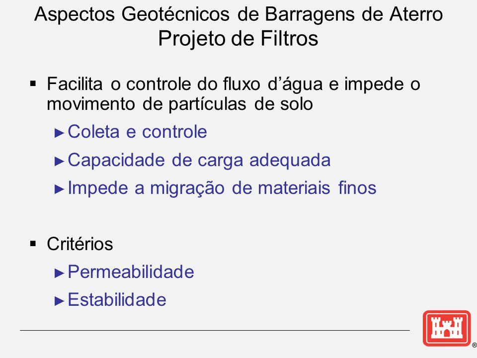 Aspectos Geotécnicos de Barragens de Aterro Projeto de Filtros