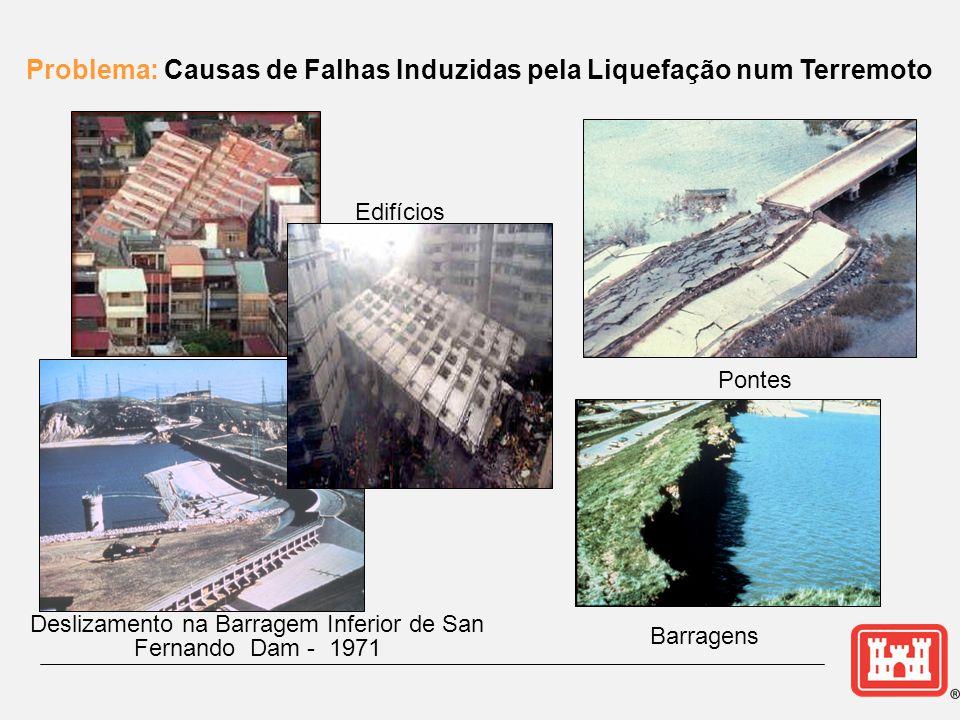 Problema: Causas de Falhas Induzidas pela Liquefação num Terremoto