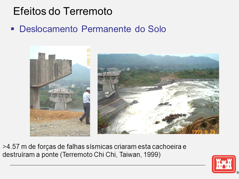 Efeitos do Terremoto Deslocamento Permanente do Solo