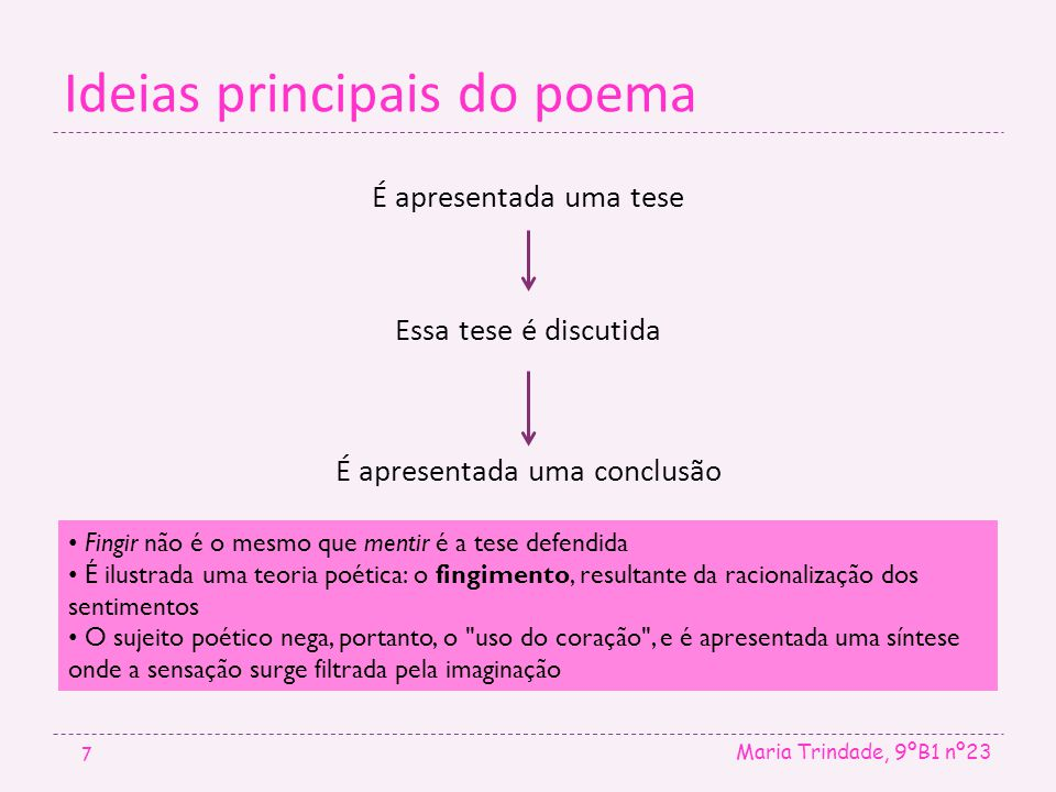 Ideias principais do poema
