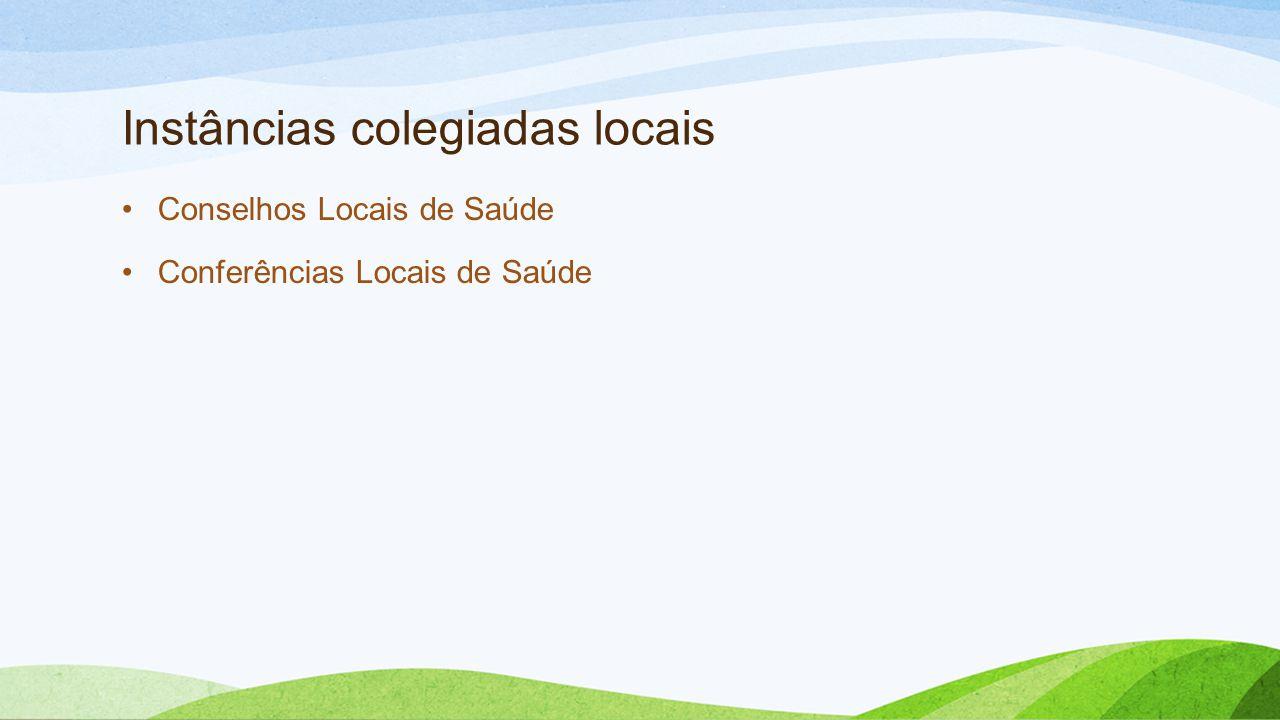 Instâncias colegiadas locais