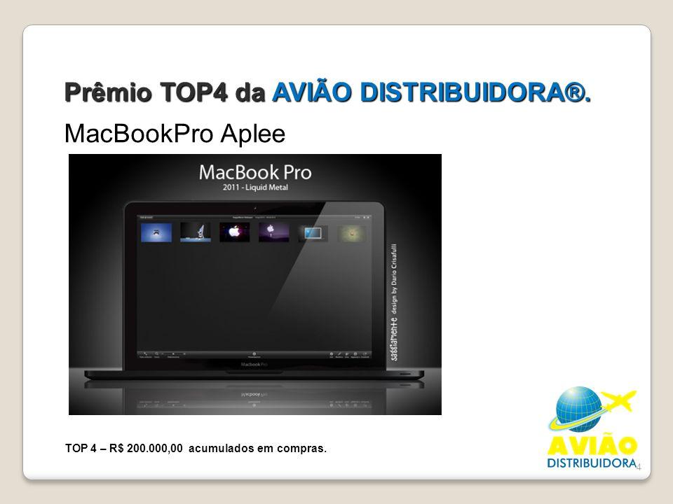 Prêmio TOP4 da AVIÃO DISTRIBUIDORA®.