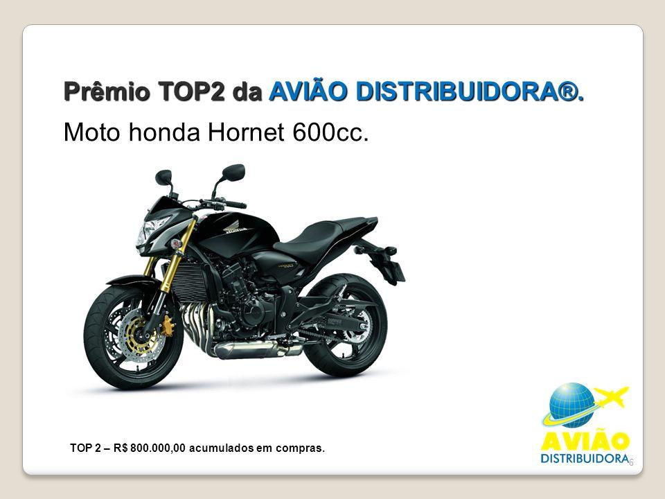 Prêmio TOP2 da AVIÃO DISTRIBUIDORA®.