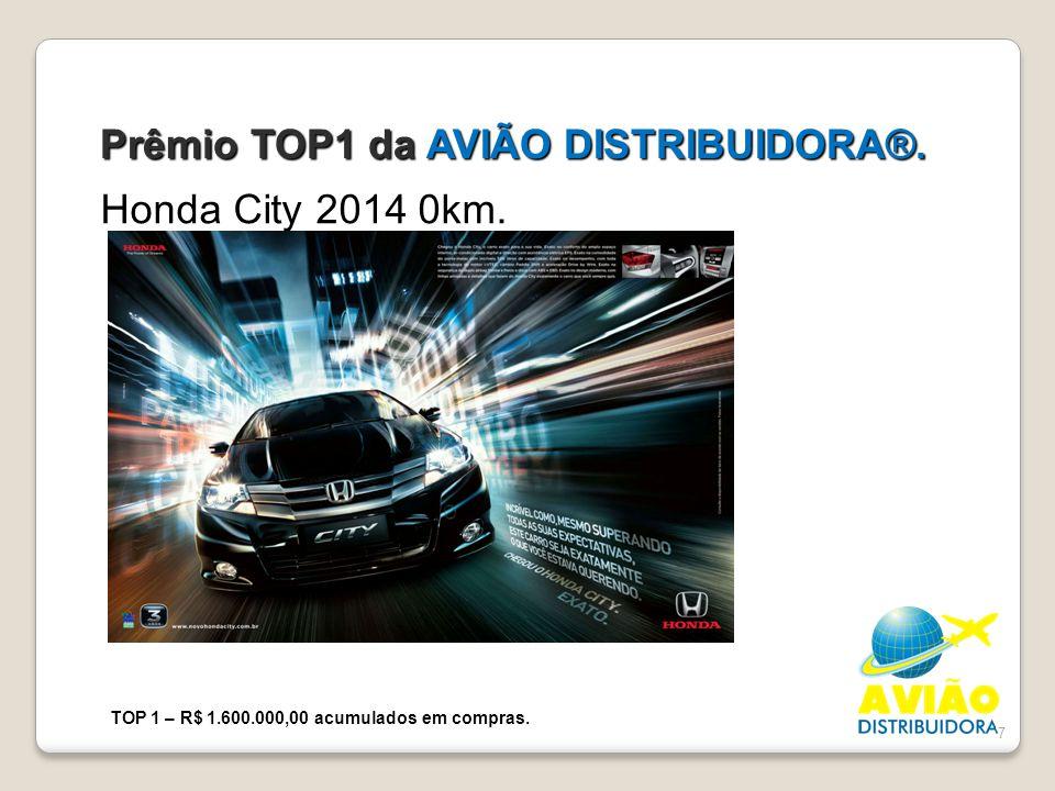 Prêmio TOP1 da AVIÃO DISTRIBUIDORA®.