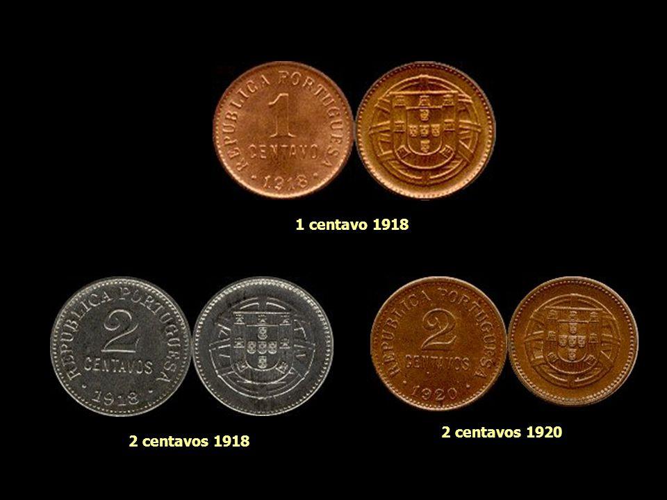 1 centavo 1918 2 centavos 1920 2 centavos 1918