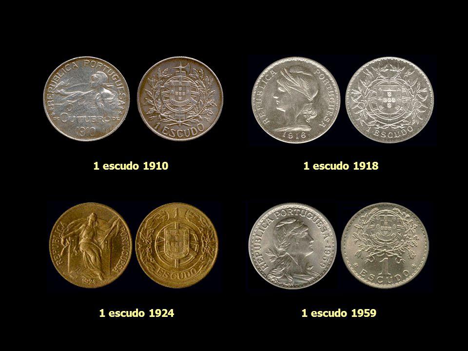 1 escudo 1910 1 escudo 1918 1 escudo 1924 1 escudo 1959