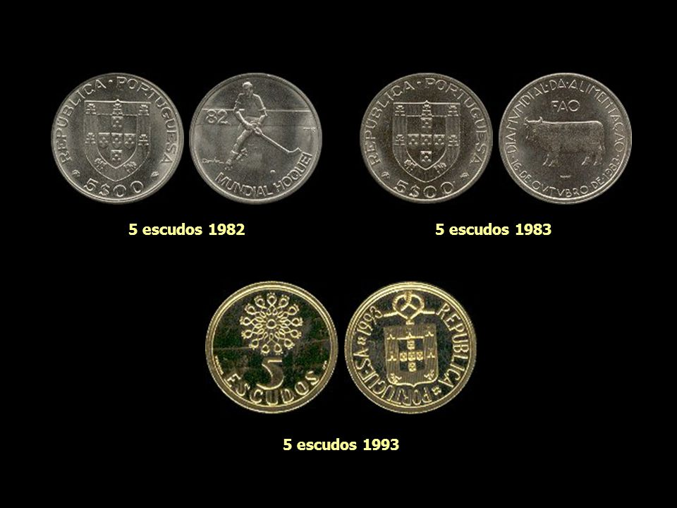 5 escudos 1982 5 escudos 1983 5 escudos 1993