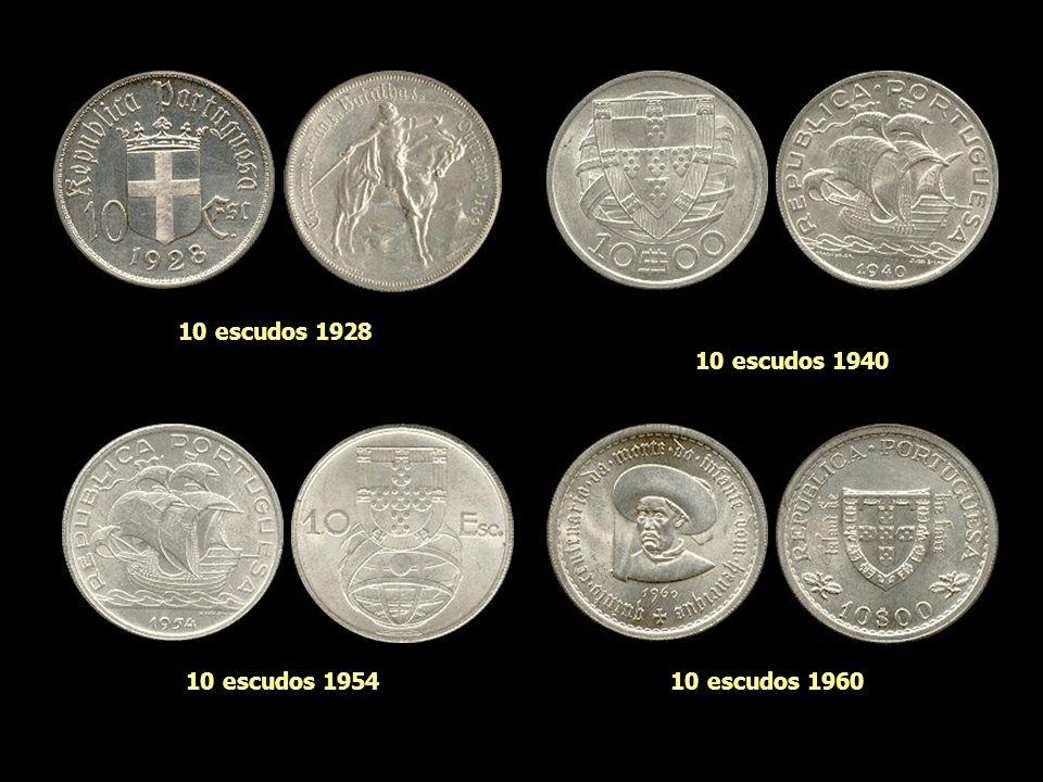 10 escudos 1928 10 escudos 1940 10 escudos 1954 10 escudos 1960