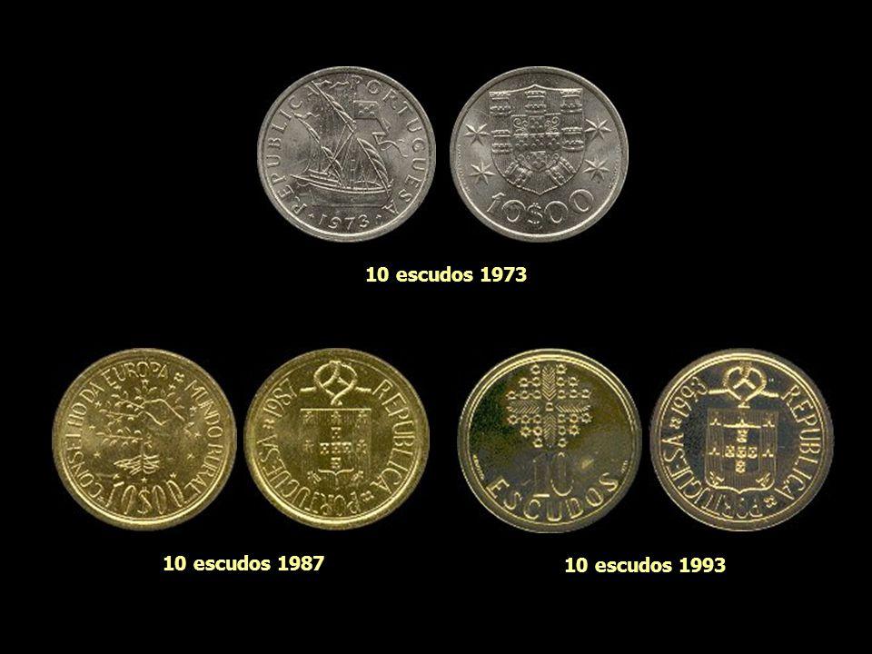 10 escudos 1973 10 escudos 1987 10 escudos 1993