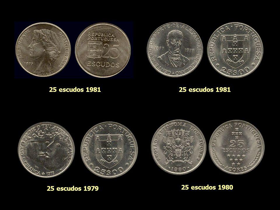 25 escudos 1981 25 escudos 1981 25 escudos 1979 25 escudos 1980