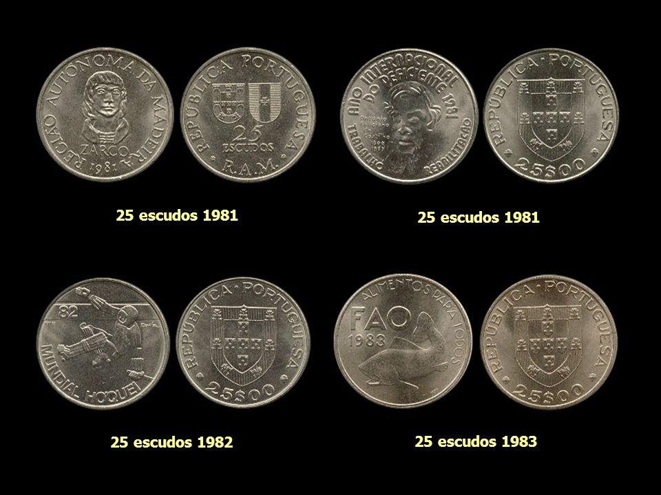25 escudos 1981 25 escudos 1981 25 escudos 1982 25 escudos 1983