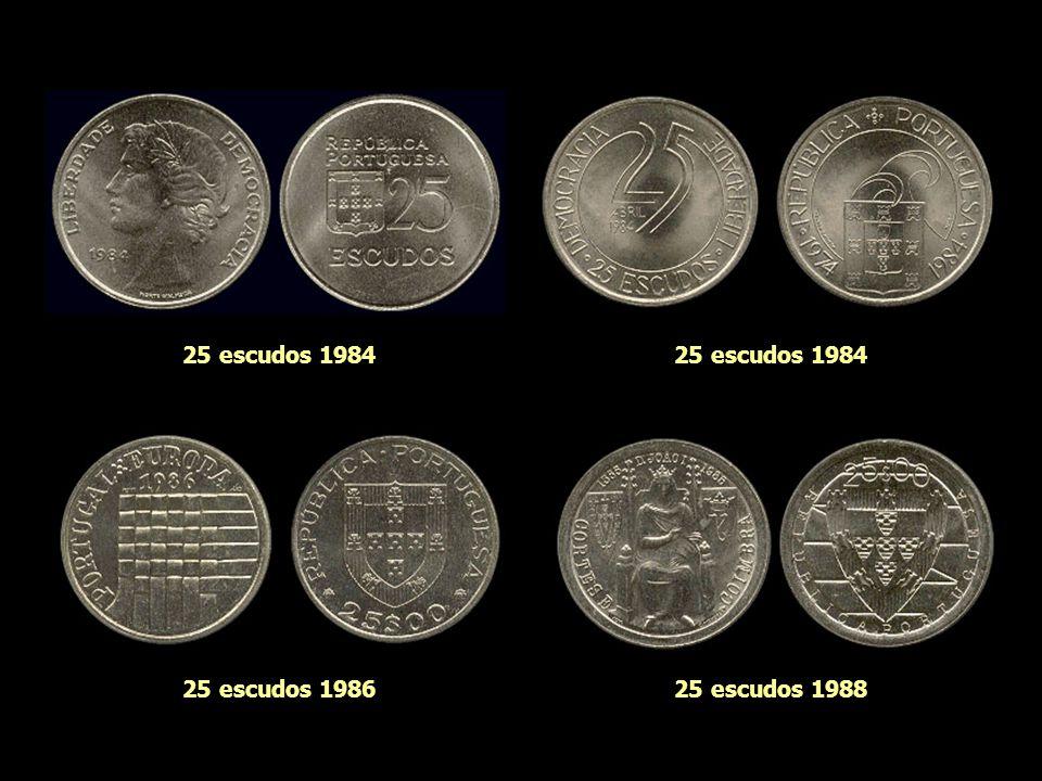 25 escudos 1984 25 escudos 1984 25 escudos 1986 25 escudos 1988