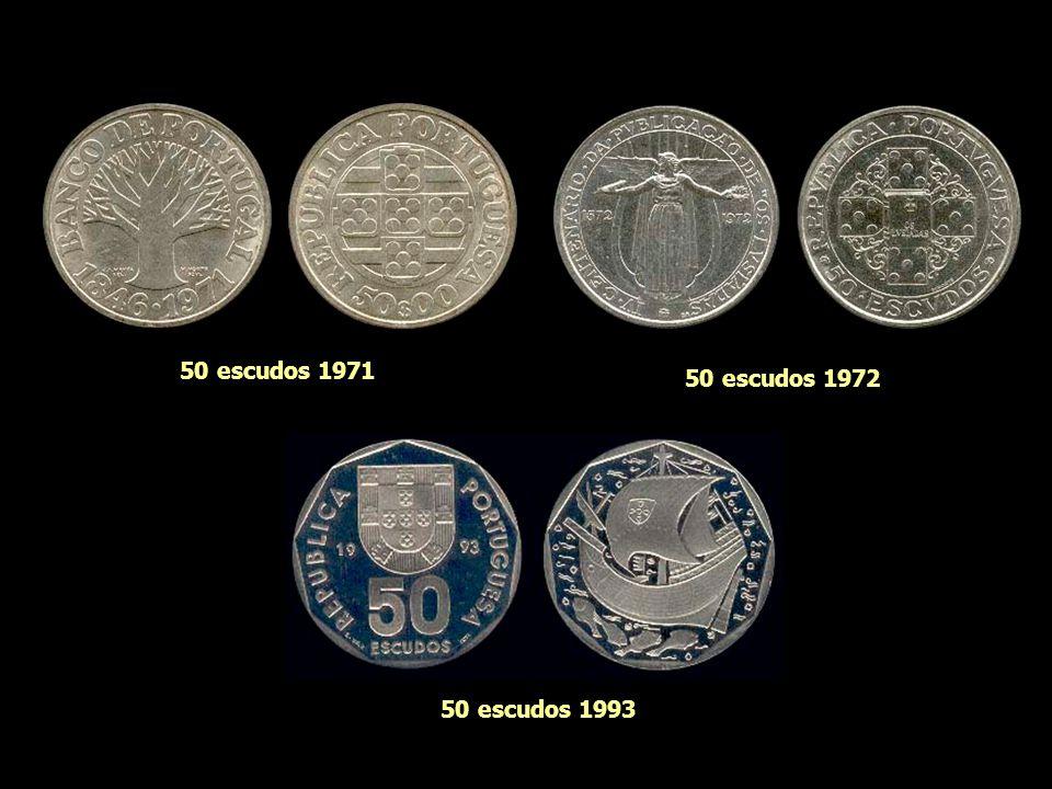 50 escudos 1971 50 escudos 1972 50 escudos 1993