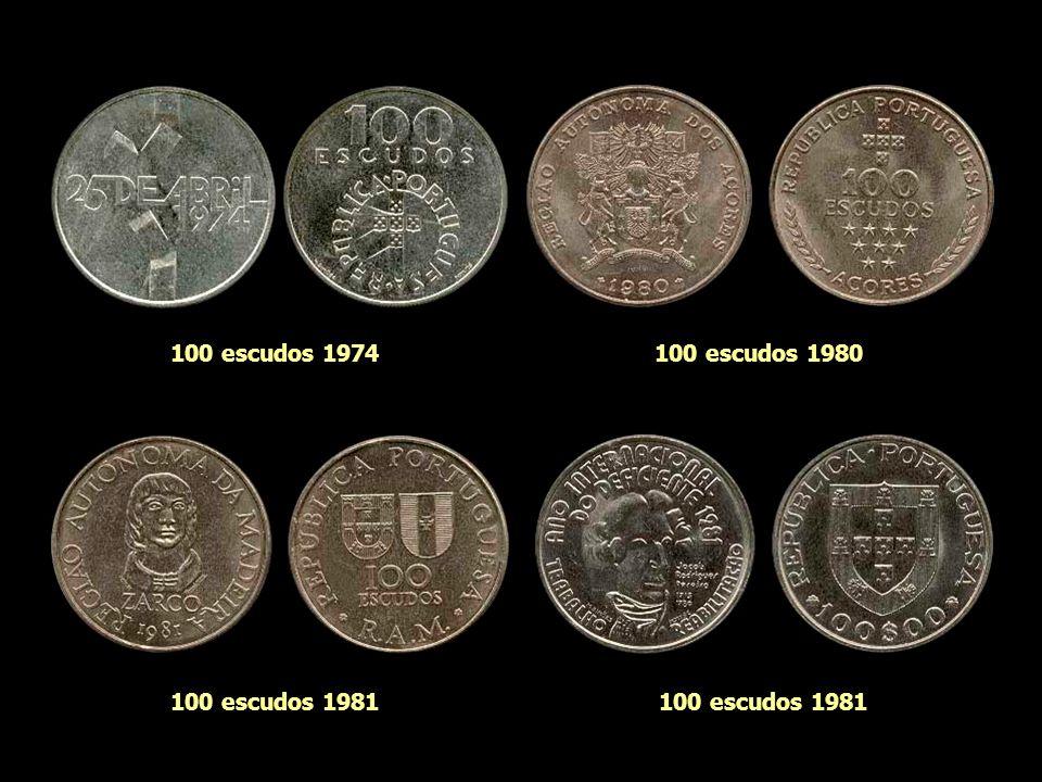 100 escudos 1974 100 escudos 1980 100 escudos 1981 100 escudos 1981