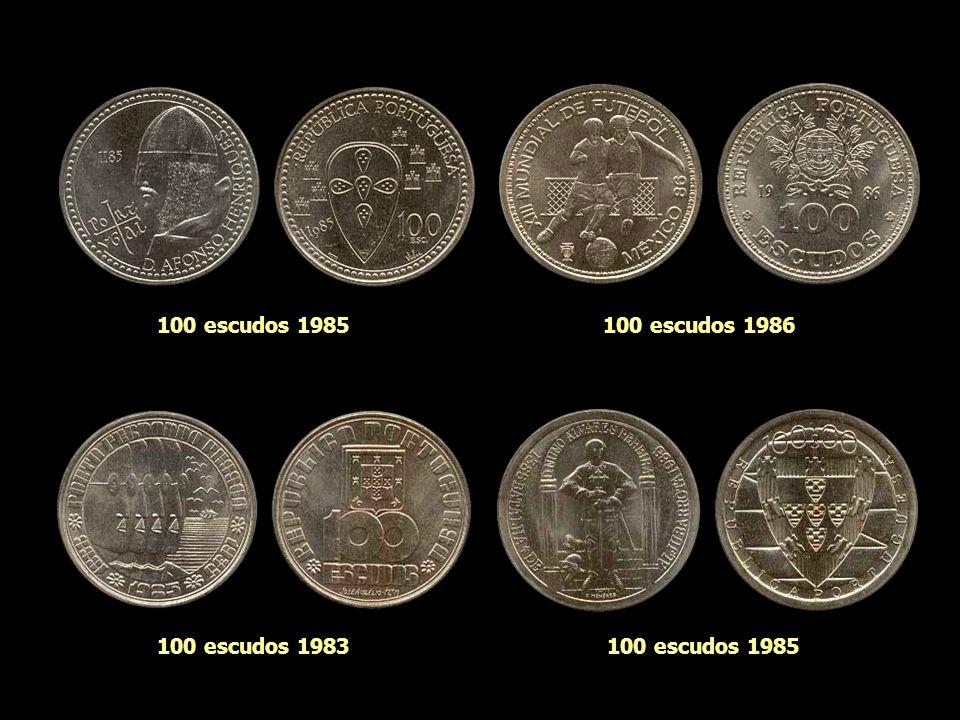 100 escudos 1985 100 escudos 1986 100 escudos 1983 100 escudos 1985