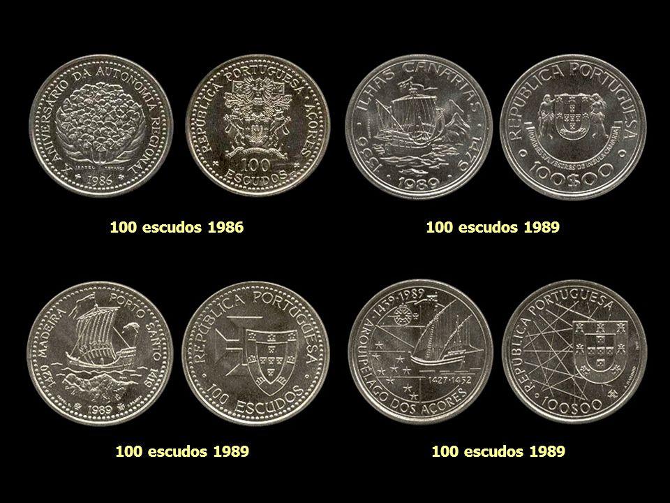 100 escudos 1986 100 escudos 1989 100 escudos 1989 100 escudos 1989