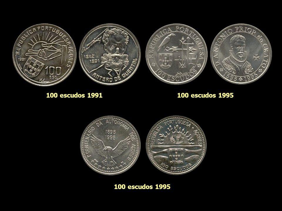 100 escudos 1991 100 escudos 1995 100 escudos 1995