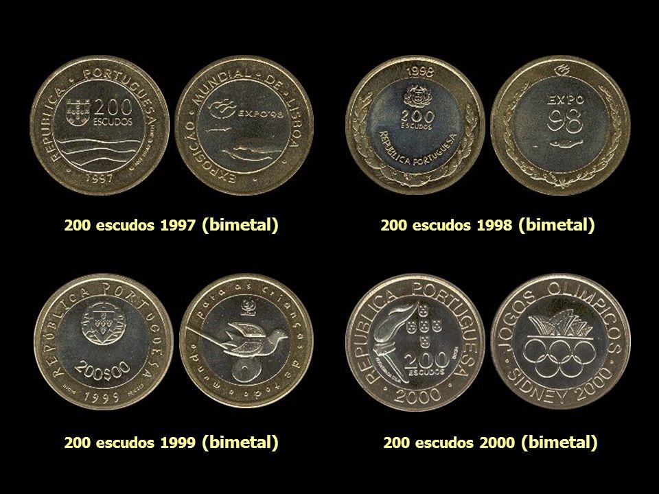 200 escudos 1997 (bimetal) 200 escudos 1998 (bimetal) 200 escudos 1999 (bimetal) 200 escudos 2000 (bimetal)