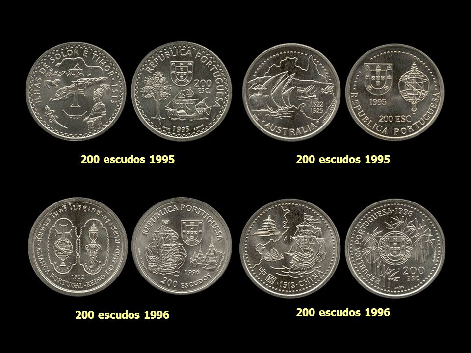 200 escudos 1995 200 escudos 1995 200 escudos 1996 200 escudos 1996