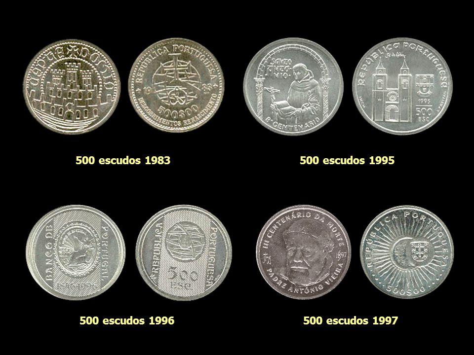 500 escudos 1983 500 escudos 1995 500 escudos 1996 500 escudos 1997
