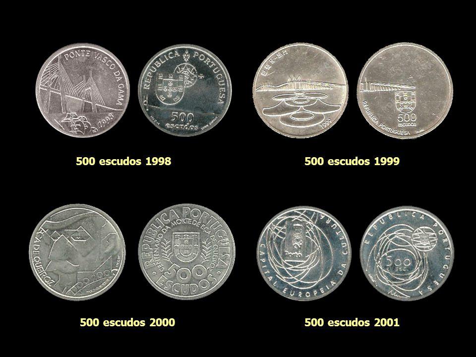 500 escudos 1998 500 escudos 1999 500 escudos 2000 500 escudos 2001