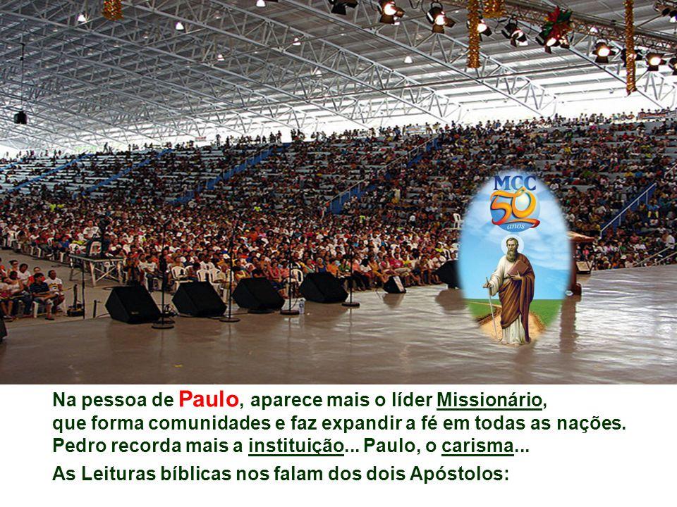 Na pessoa de Paulo, aparece mais o líder Missionário,
