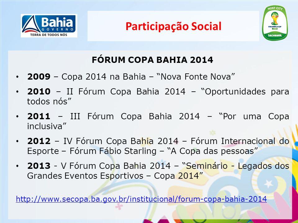 Participação Social FÓRUM COPA BAHIA 2014