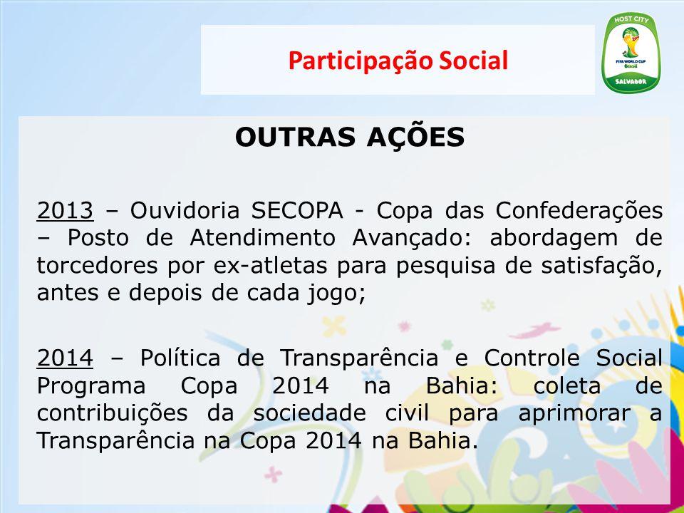 Participação Social OUTRAS AÇÕES