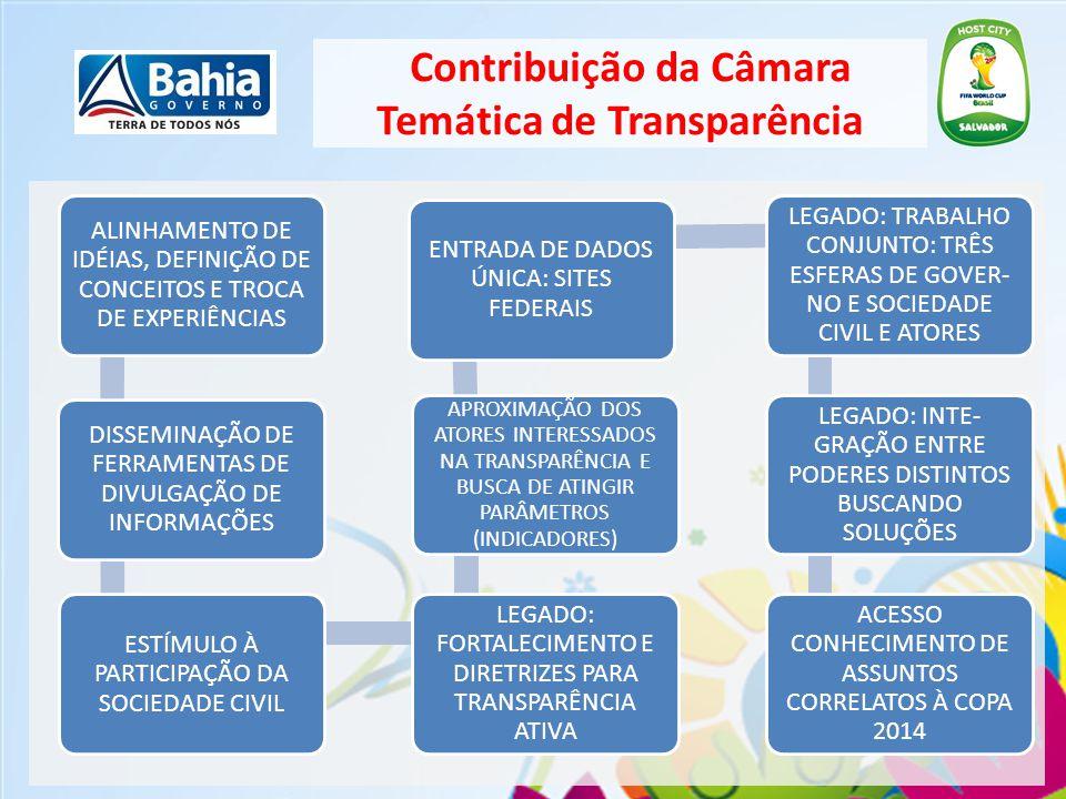 Contribuição da Câmara Temática de Transparência