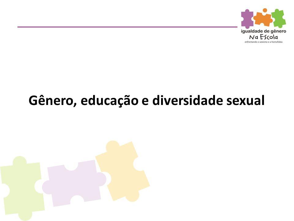 Gênero, educação e diversidade sexual