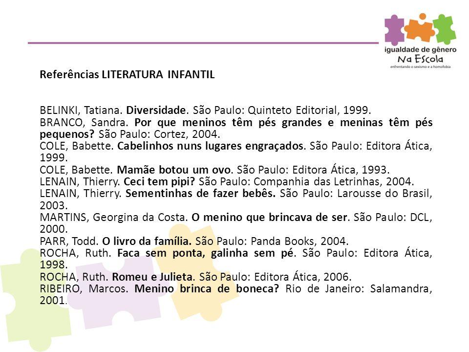 Referências LITERATURA INFANTIL
