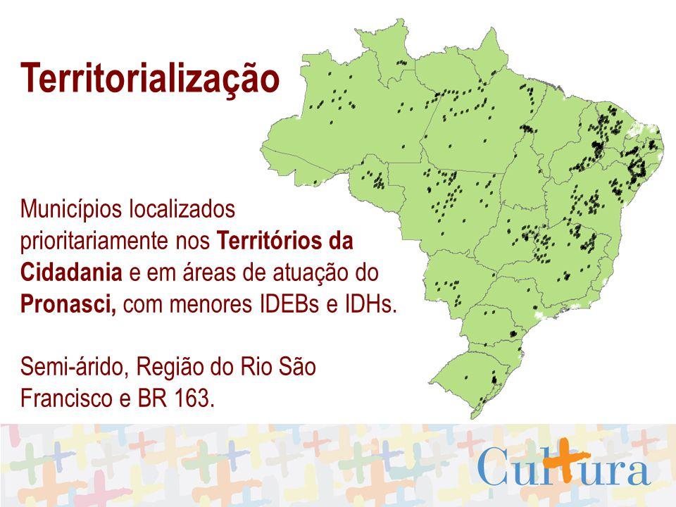Territorialização Municípios localizados