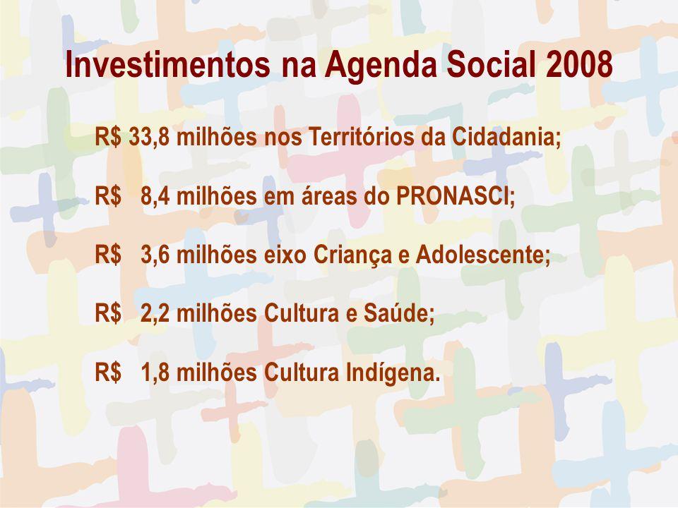 Investimentos na Agenda Social 2008