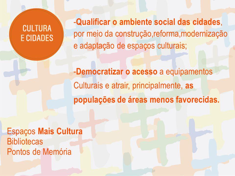 Qualificar o ambiente social das cidades,