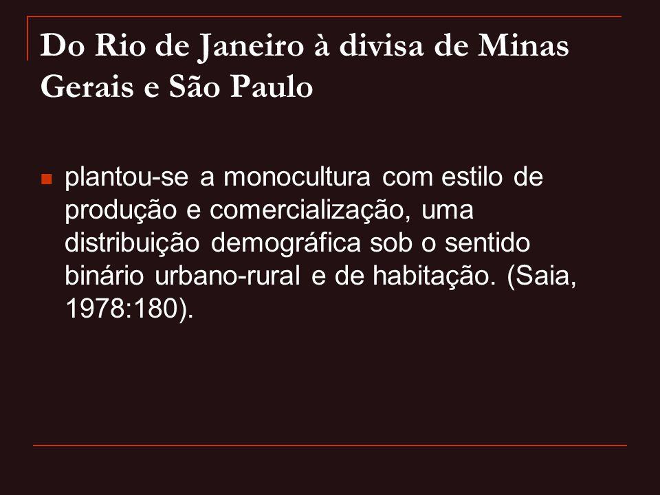 Do Rio de Janeiro à divisa de Minas Gerais e São Paulo