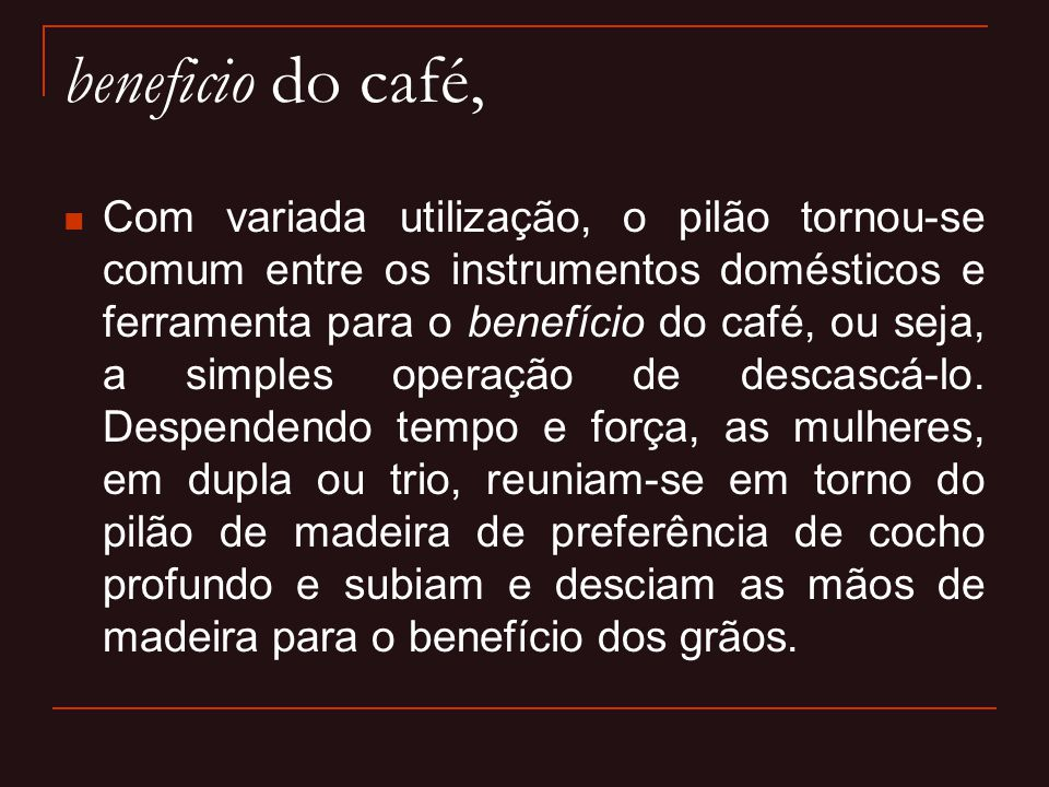 beneficio do café,