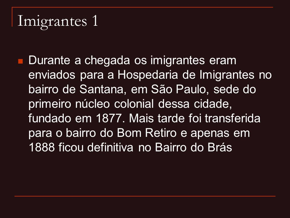 Imigrantes 1
