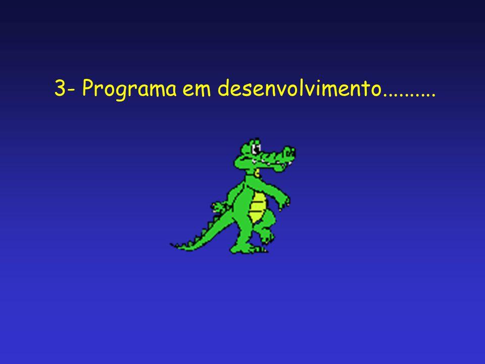 3- Programa em desenvolvimento..........