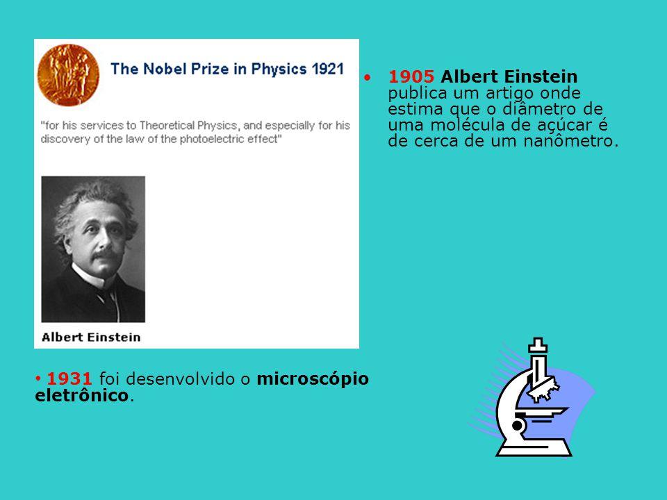 1931 foi desenvolvido o microscópio eletrônico.
