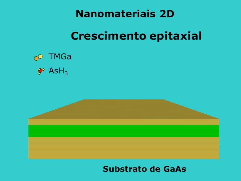 Nanomateriais 2D Crescimento epitaxial TMGa AsH3 Substrato de GaAs