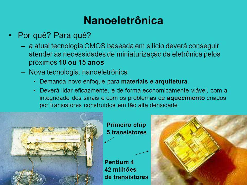 Nanoeletrônica Por quê Para quê
