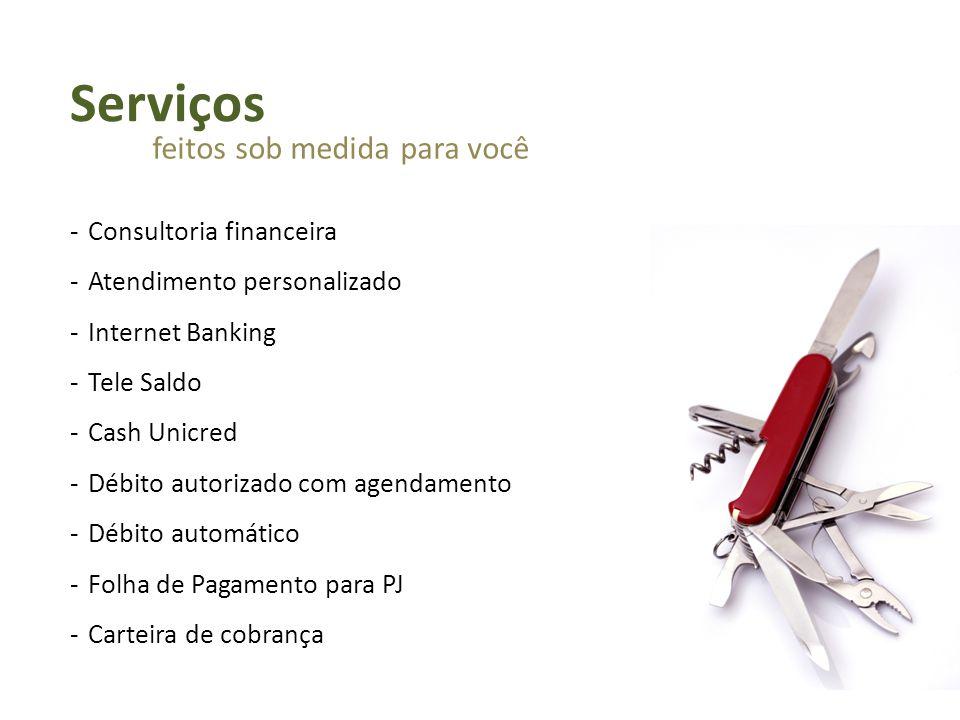 Serviços feitos sob medida para você Consultoria financeira