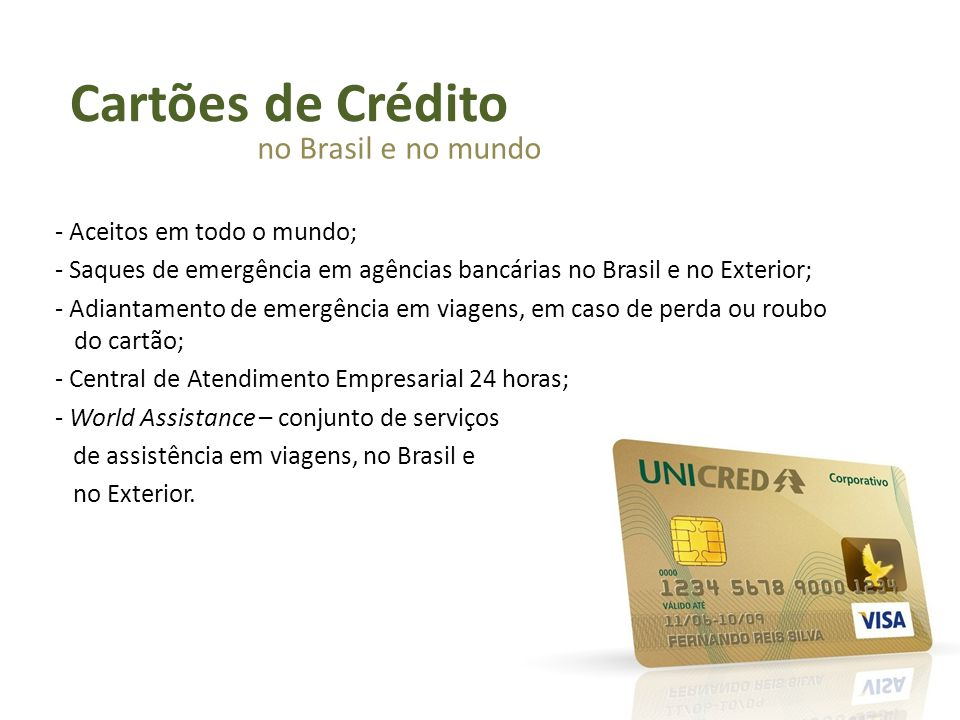 Cartões de Crédito no Brasil e no mundo